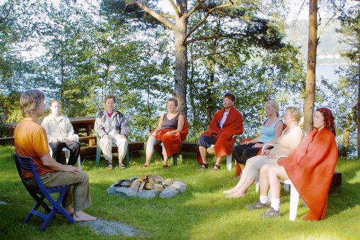 meditasjon ute i hagen