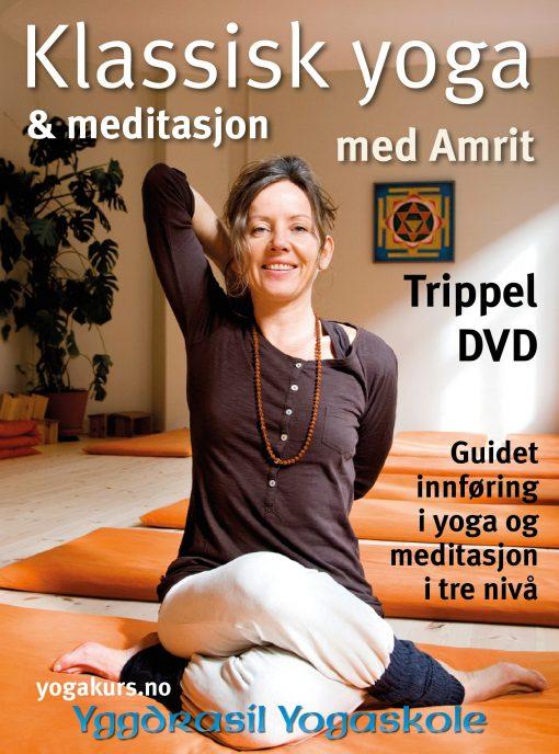 Yoga med Amrit: Klassisk yoga - 3 DVD, forside