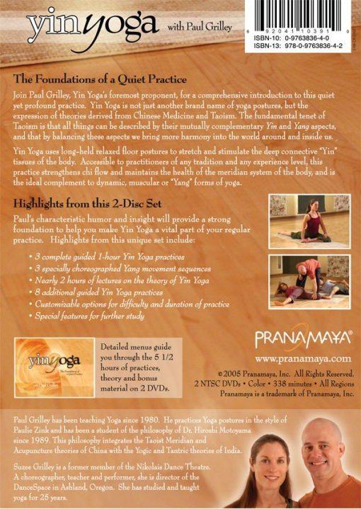 Yin Yoga DVD - med Paul Grilley - bakside