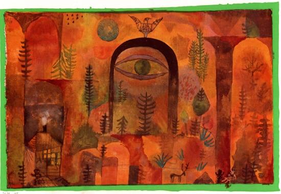 """""""Mit dem Adler"""" (med Ørnen) af Paul Klee"""